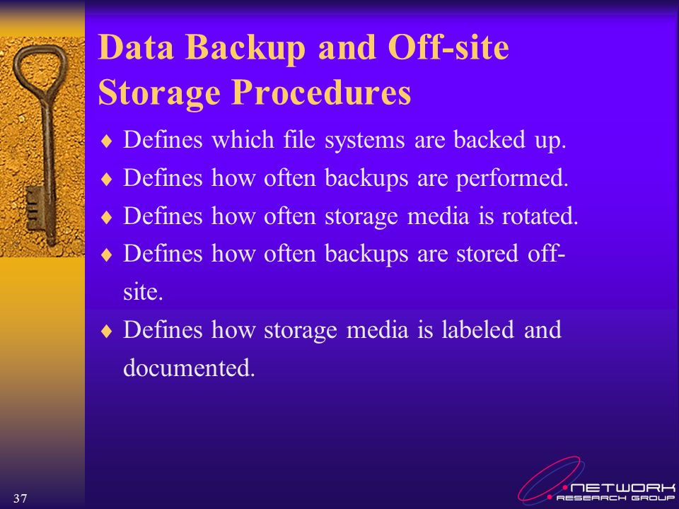 Data Backup and Off-site Storage Procedures
