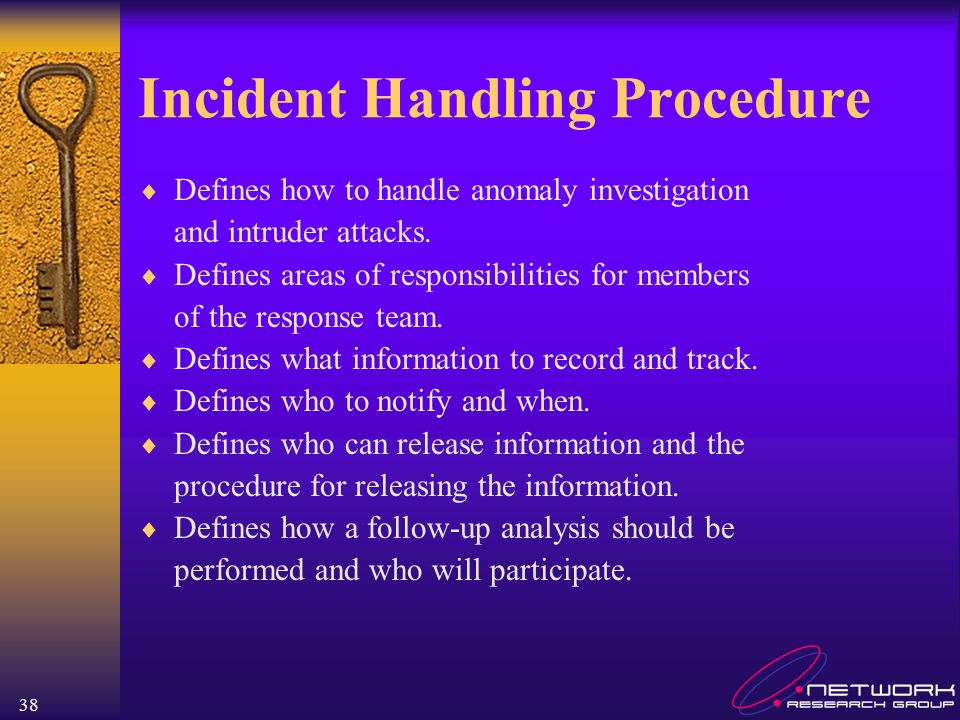 Incident Handling Procedure