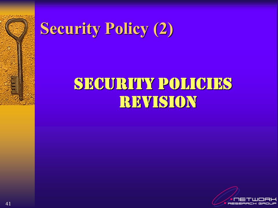 Security Policies Revision