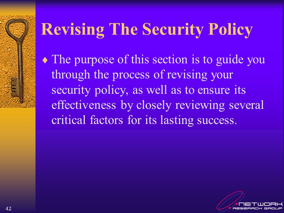 Revising The Security Policy