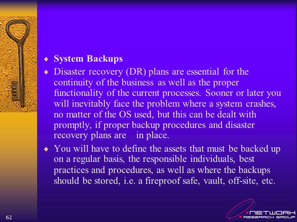 System Backups