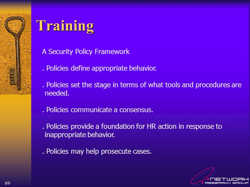 Training A Security Policy Framework