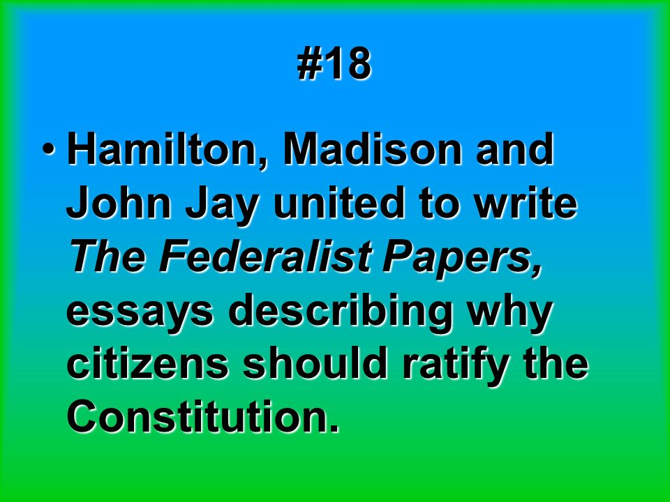 why u s constitution should not ratified The constitution of the united states only talks about the process for admitting new states in article iv, section 3 it really does not say much about it at all the only thing that really.