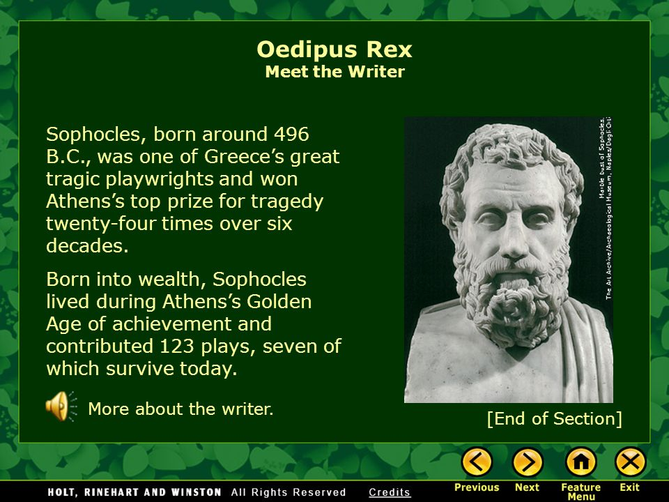 a comprehensive analysis of oedipus rex by sophocles By sophocles oedipus the tragic hero a greek legend  essay on oedipus rex  only notes including comprehensive chapter analysis of academic scholarship or.
