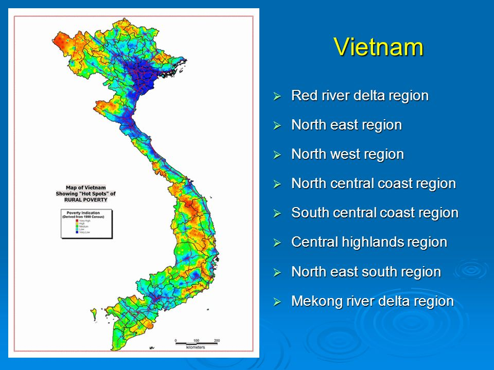 Vietnam Red river delta region North east region North west region