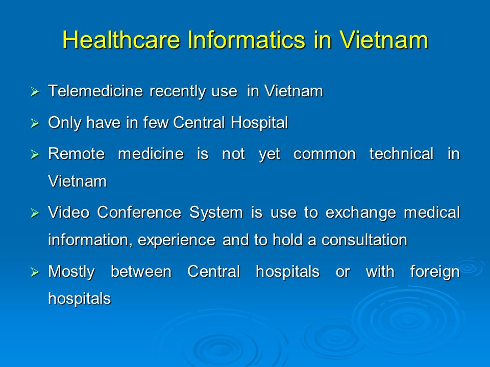 Healthcare Informatics in Vietnam