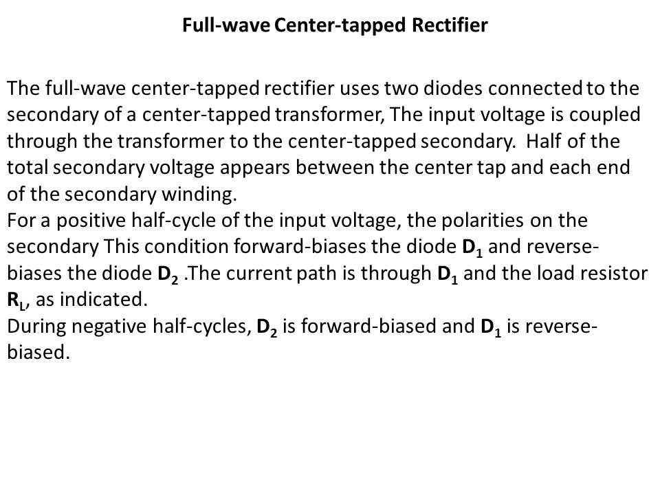 Full-wave Center-tapped Rectifier