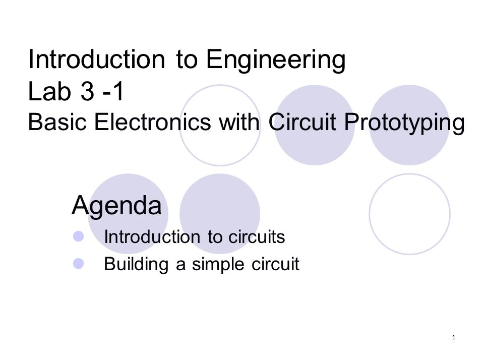 Agenda Introduction to circuits Building a simple circuit - ppt ...