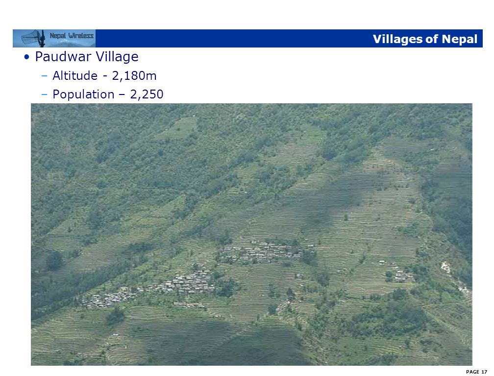 Villages of Nepal Paudwar Village Altitude - 2,180m Population – 2,250