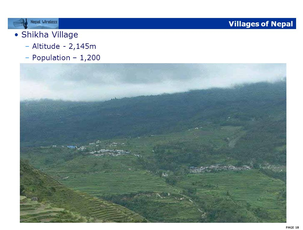 Villages of Nepal Shikha Village Altitude - 2,145m Population – 1,200