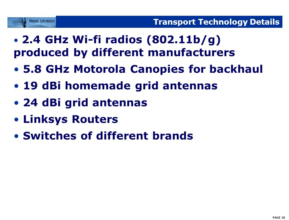 Transport Technology Details