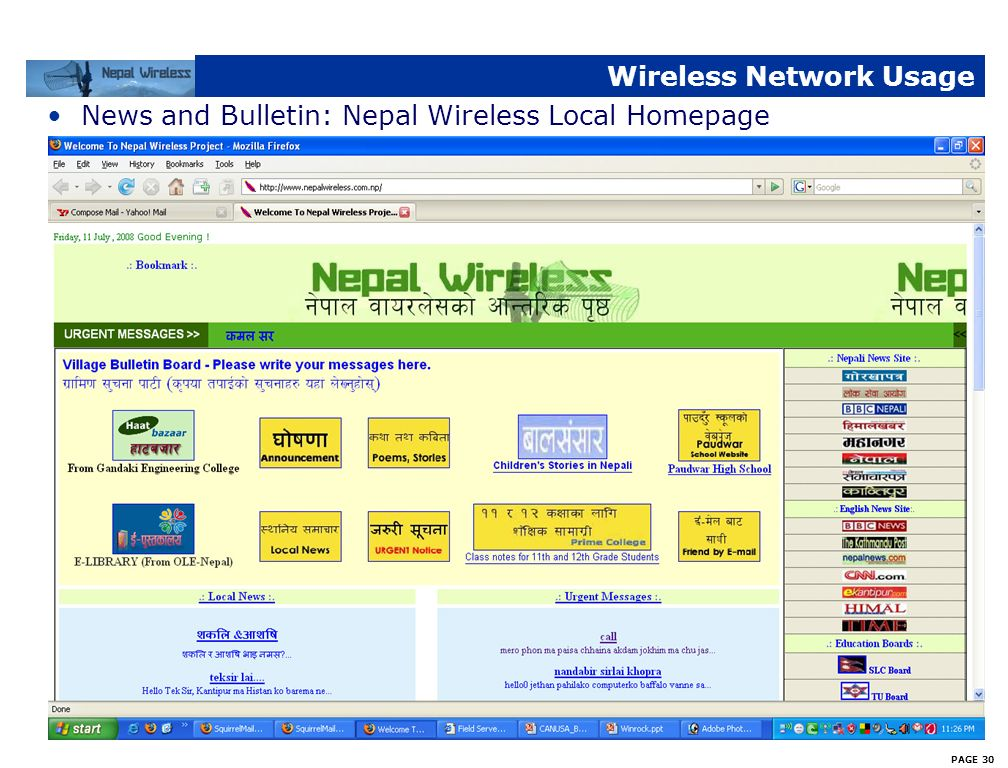 Wireless Network Usage