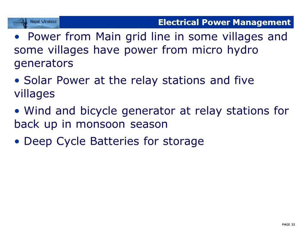 Electrical Power Management