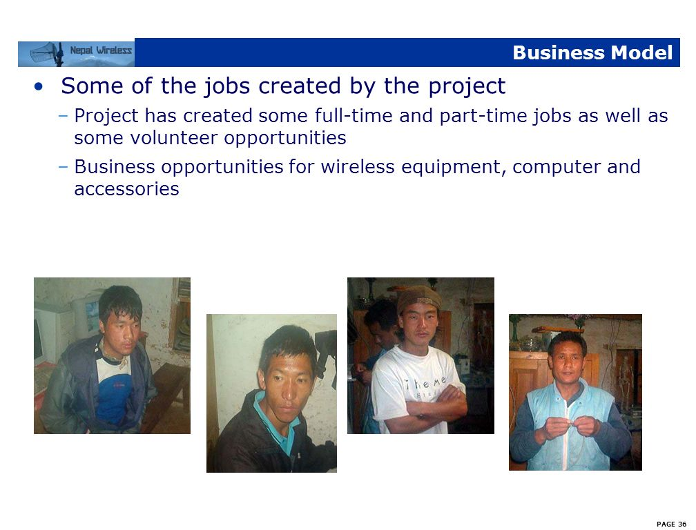 Some of the jobs created by the project