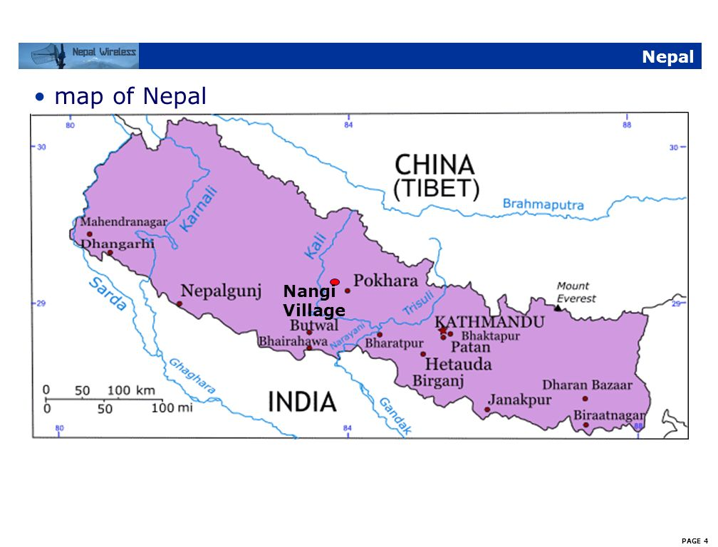 Nepal map of Nepal Nangi Village