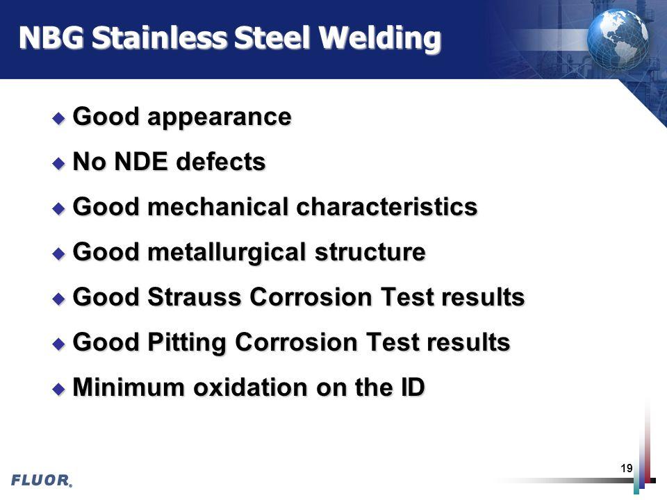 NBG Stainless Steel Welding