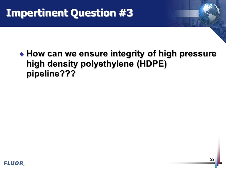Impertinent Question #3