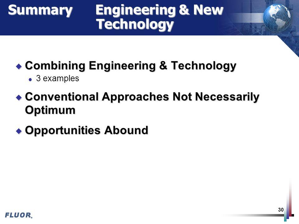 Summary Engineering & New Technology