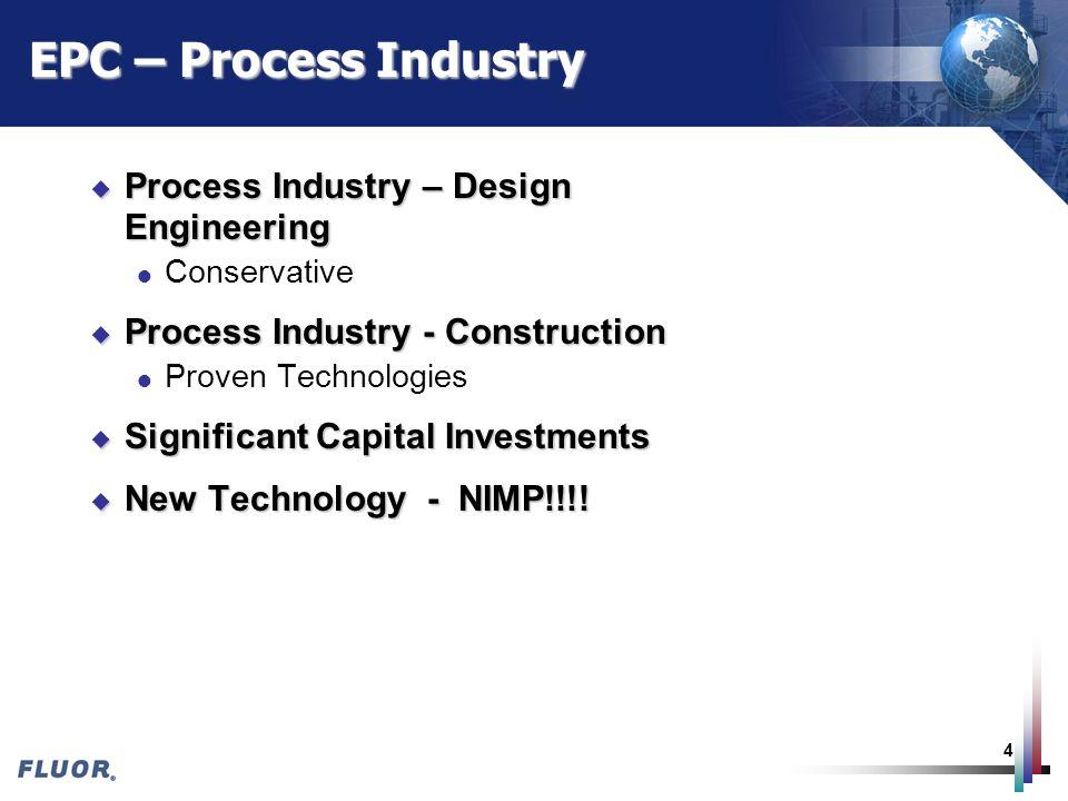EPC – Process Industry Process Industry – Design Engineering