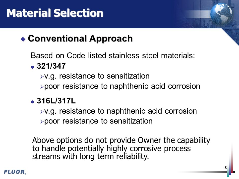 Material Selection Conventional Approach