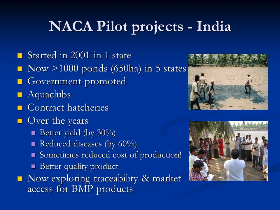 NACA Pilot projects - India