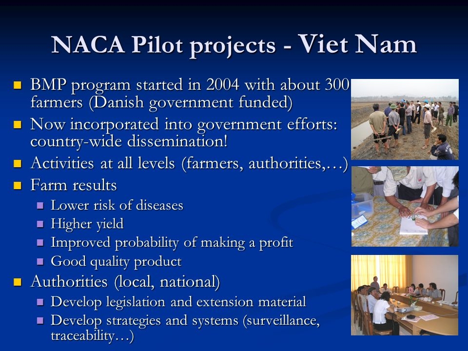 NACA Pilot projects - Viet Nam