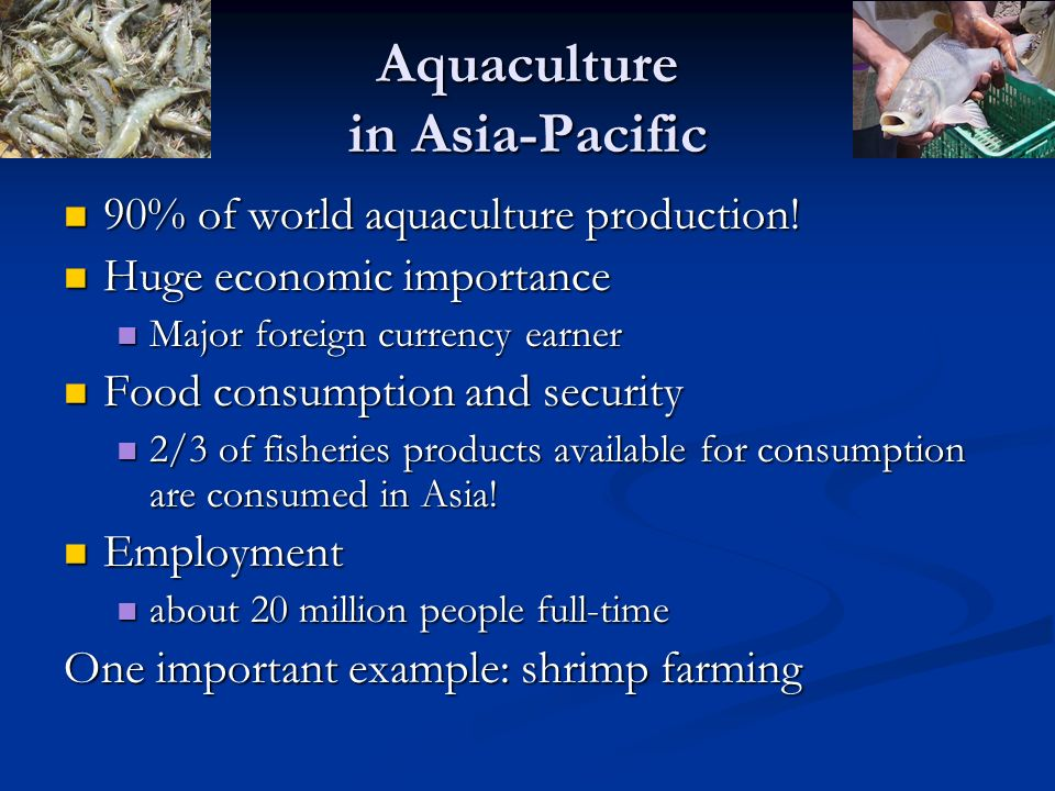 Aquaculture in Asia-Pacific