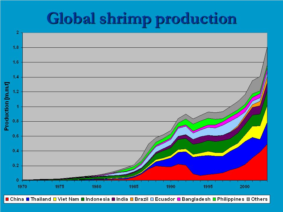 Global shrimp production