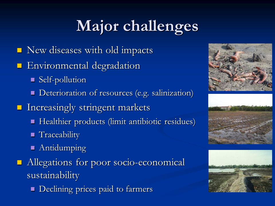 Major challenges New diseases with old impacts