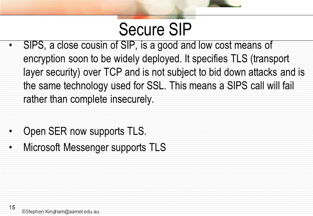Secure SIP
