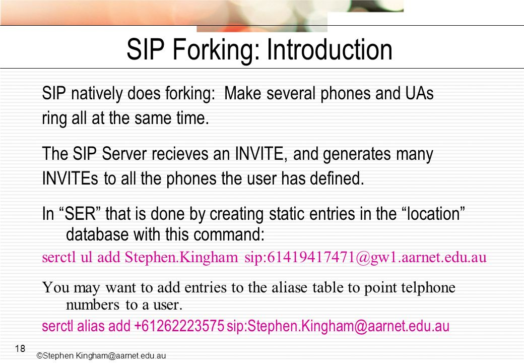 SIP Forking: Introduction