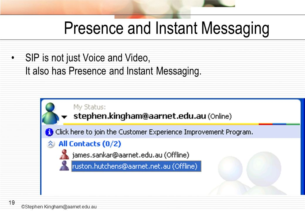 Presence and Instant Messaging
