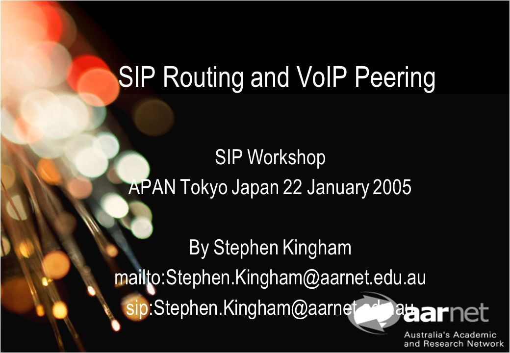 SIP Routing and VoIP Peering