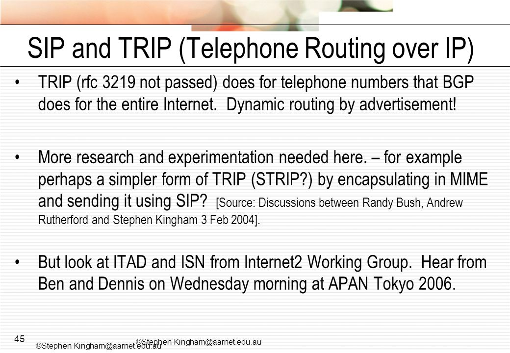 SIP and TRIP (Telephone Routing over IP)