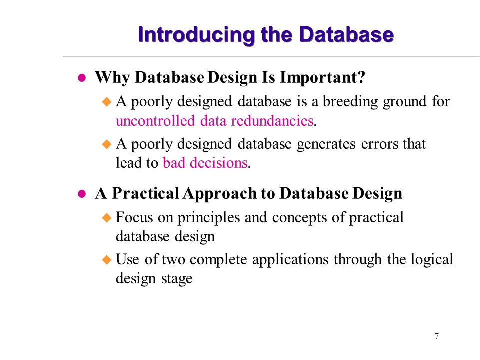 introducing database system