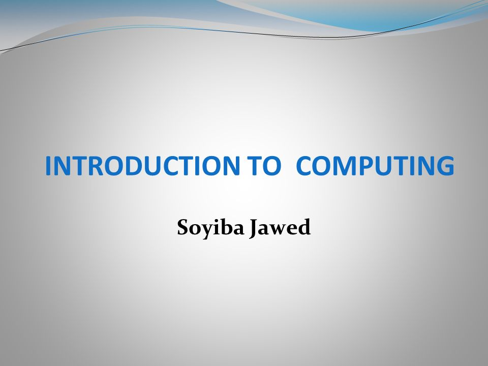 introduction to computing Lecture series on computer organization by profs raman, department of computer science and engineering, iit madras for more details on nptel visit.