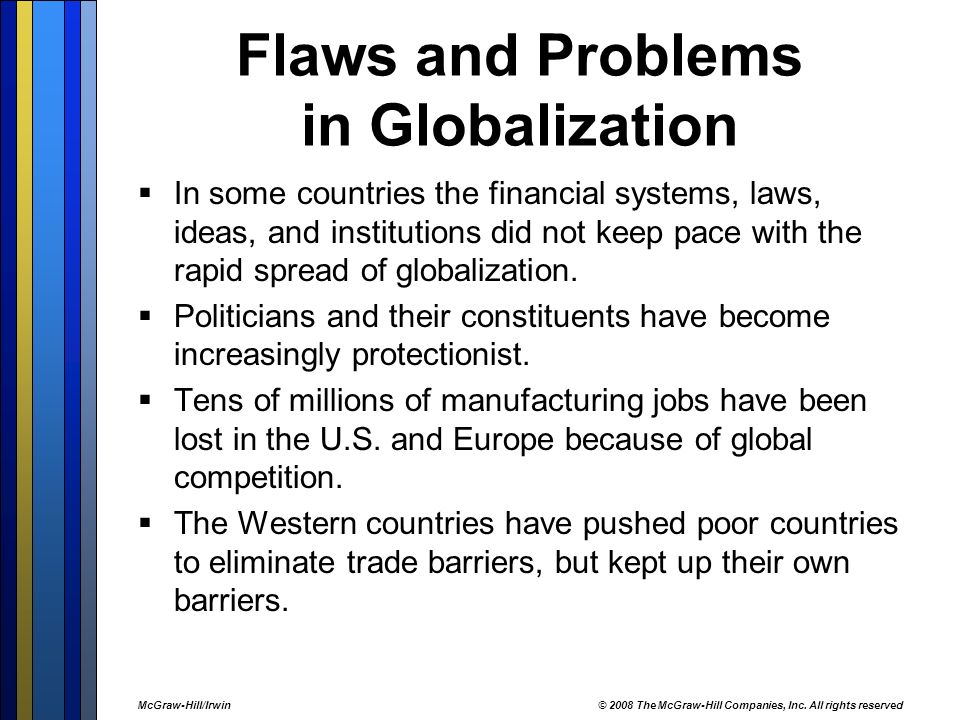 problems of globalisation Competitiveness: challenges for developing countries carl dahlman 1   paper is that technology is an increasingly important element of globalisation.