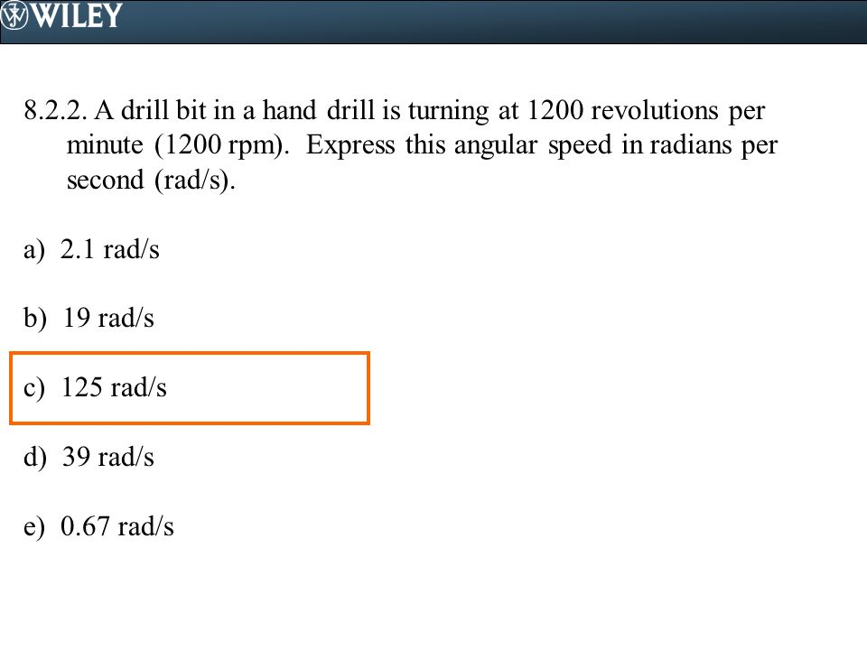 Rad S To Rpm >> Cutnell/Johnson Physics 8th edition Reading Quiz Questions - ppt video online download
