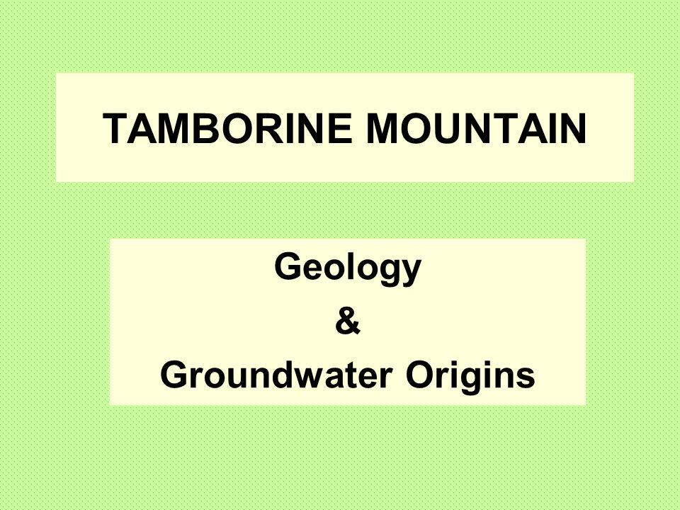 Geology & Groundwater Origins