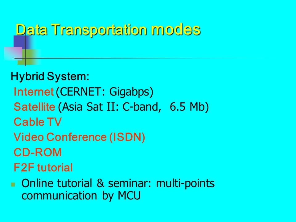 Data Transportation modes