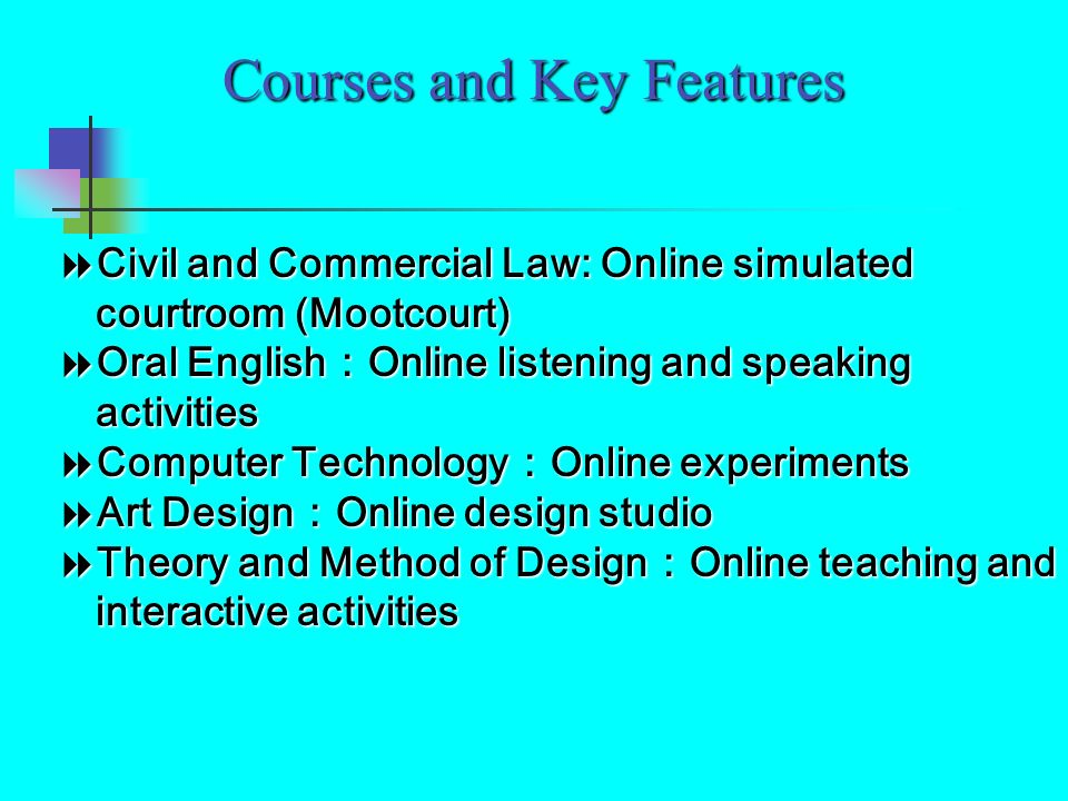 Courses and Key Features