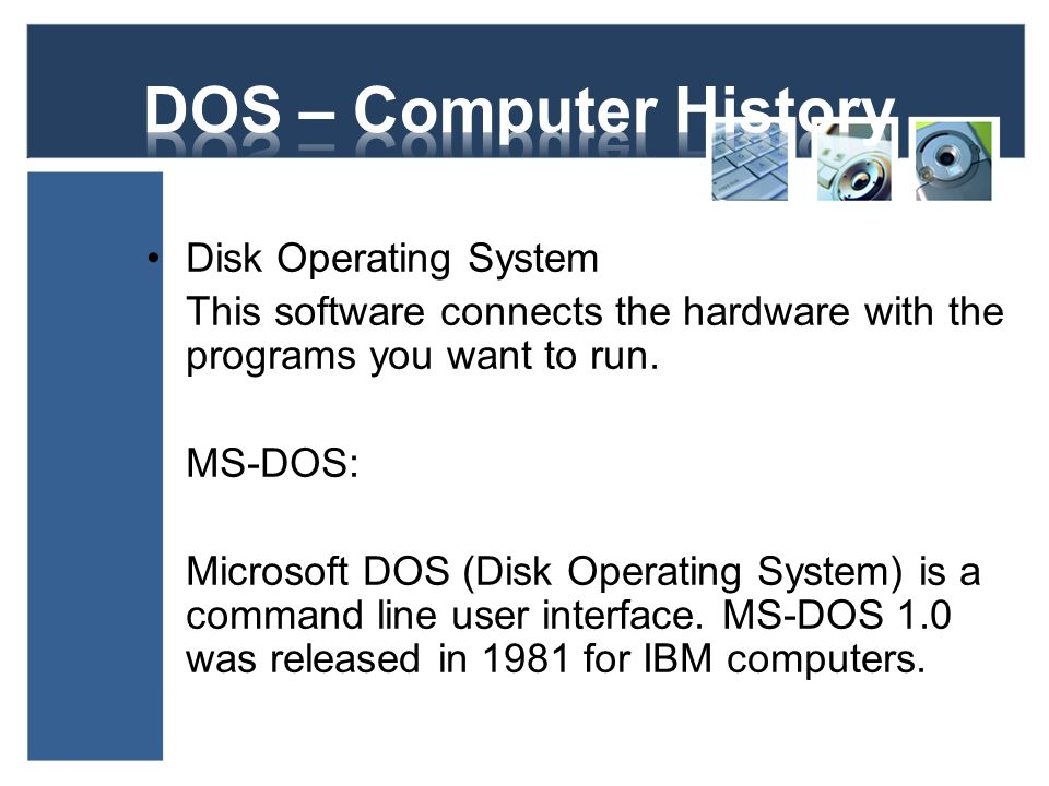 DOS – Computer History Disk Operating System