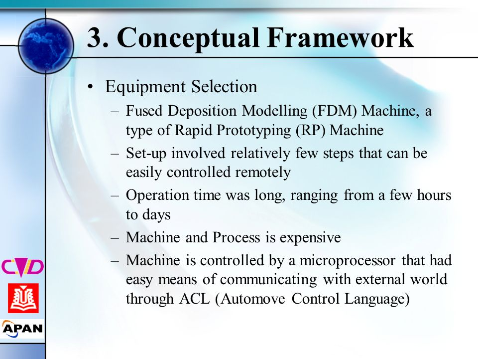 3. Conceptual Framework Equipment Selection