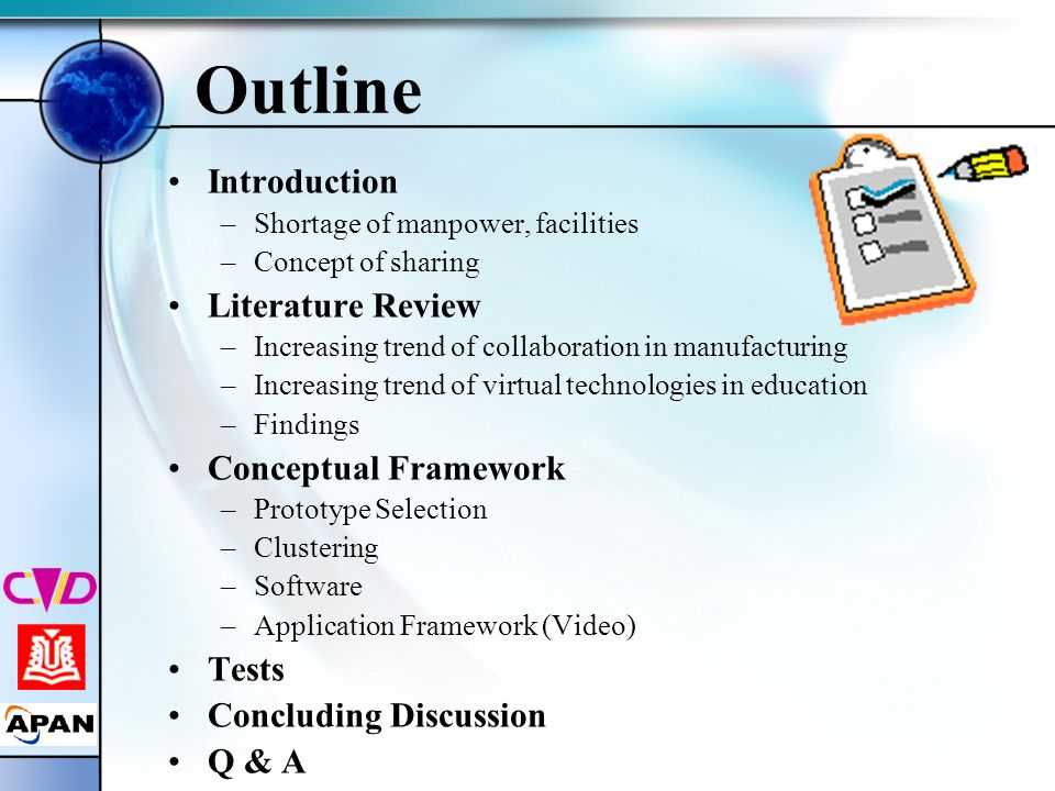 Outline Introduction Literature Review Conceptual Framework Tests