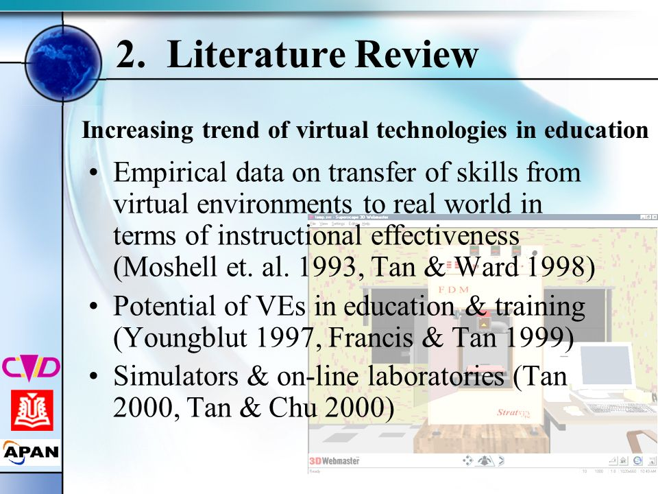 2. Literature Review Increasing trend of virtual technologies in education.