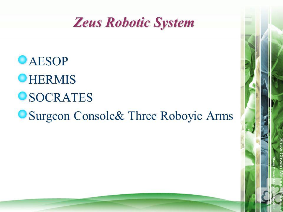 Zeus Robotic System AESOP HERMIS SOCRATES