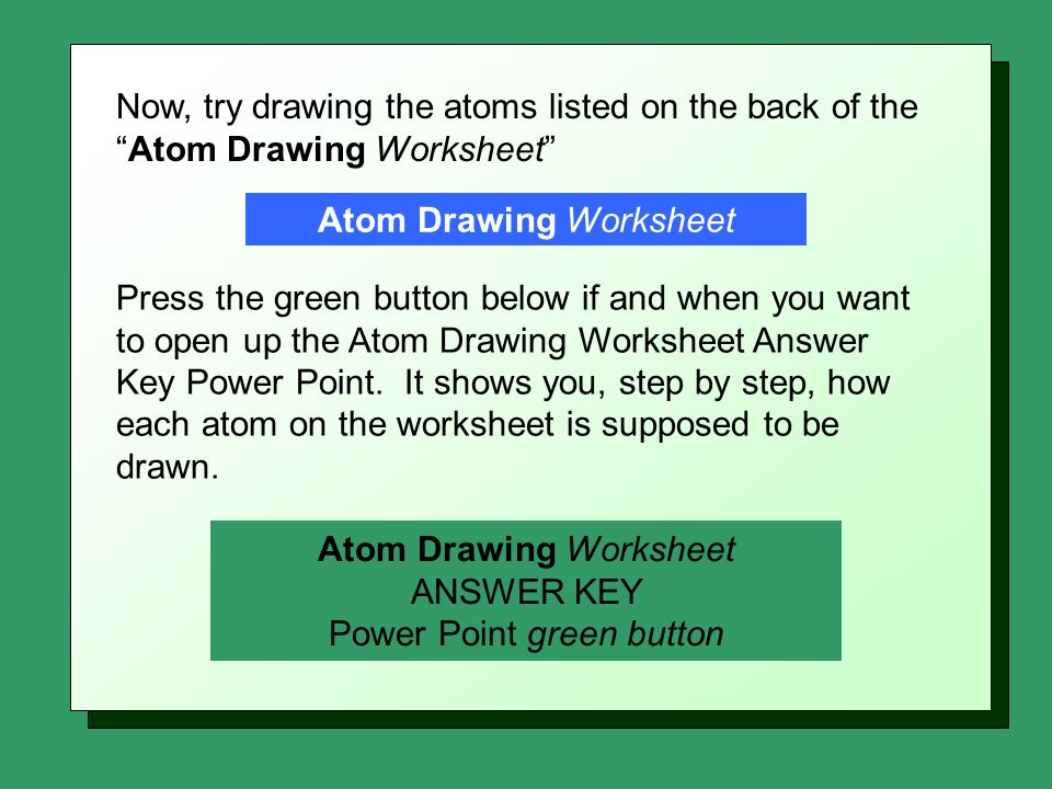 Atom Drawing Instructions Daniel R Barnes Init102 ppt download – Drawing Atoms Worksheet