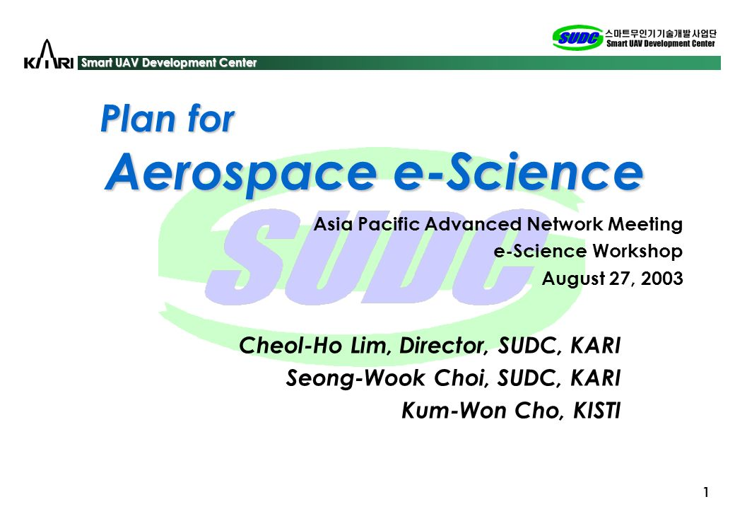 Plan for the Aerospace e-Science