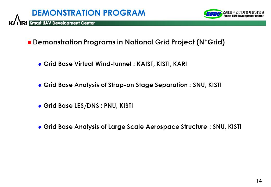 DEMONSTRATION PROGRAM
