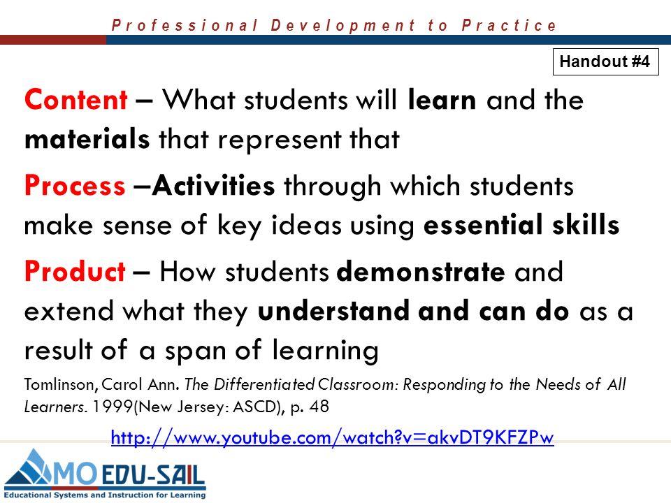 Curriculum Know Understand Do Carol Ann Tomlinson 6248926